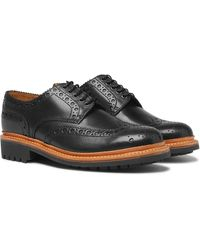 Grenson Archie Leather Wingtip Brogues - Black
