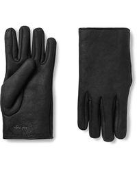 Bottega Veneta Logo-embroidered Shearling Gloves - Gray