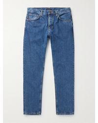 Nudie Jeans Steady Eddie Ii Tapered Organic Denim Jeans - Blue
