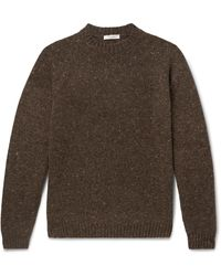 The Row Ezra Mélange Camel Hair-blend Sweater - Brown