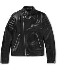 Tom Ford Slim-fit Leather Jacket - Black