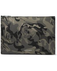 Alexander McQueen | - Skull Camouflage-print Shell Pouch - Green | Lyst