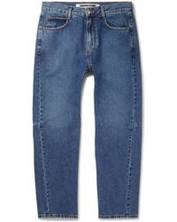 McQ - Tapered Panelled Denim Jeans - Lyst