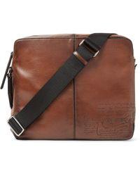 Berluti - Monolithe Medium Leather Messenger Bag - Lyst