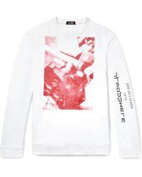 Raf Simons - Oversized Printed Loopback Cotton-jersey Sweatshirt - Lyst