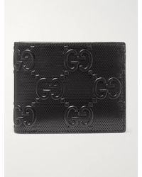 Gucci GG Tennis Monogrammed-leather Billfold Wallet - Black