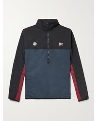District Vision Mr Porter Health In Mind Theo Colour-block Shell Half-zip Jacket - Blue