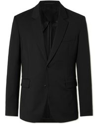 The Row Slater Slim-fit Unstructured Wool Suit Jacket - Black