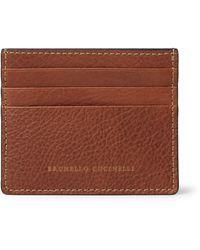 Brunello Cucinelli Full-grain Leather Cardholder - Brown