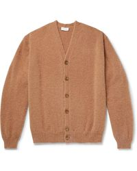 Lemaire Oversized Knitted Cardigan - Brown