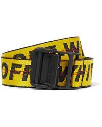 Off-White c/o Virgil Abloh 3.5cm Yellow Industrial Logo-jacquard Webbing Belt