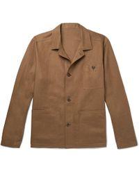 Anderson & Sheppard - Linen Shirt Jacket - Lyst