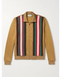 Gucci Striped Tech-jersey Track Jacket - Brown