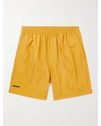 True Tribe Neat Steve Mid-length Iridescent Econyl Swim Shorts - Yellow
