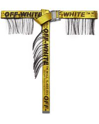 Off-White c/o Virgil Abloh - 3.5cm Yellow Industrial Fringed Logo-jacquard Webbing Belt - Lyst