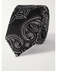 Givenchy 5.5cm Embroidered Silk-faille Tie - Black