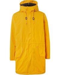 Aspesi Shell Hooded Parka With Detachable Gilet - Yellow