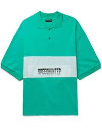 Balenciaga - Speedhunter Oversized Cotton-jersey Polo Shirt - Lyst