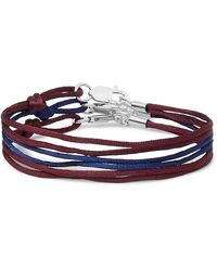 Rubinacci Set Of Three Silk Bracelets - Red