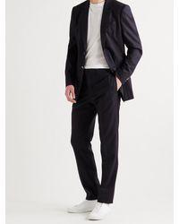Gabriela Hearst Ernest Pinstriped Wool-blend Suit Trousers - Blue