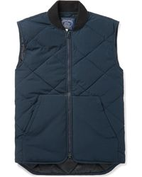 J.Crew Nordic Quilted Shell Gilet - Blue
