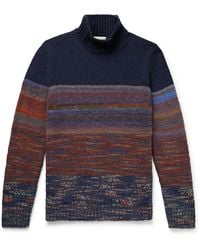 Altea - Space-dyed Knitted Rollneck Sweater - Lyst