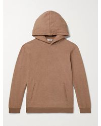 SSAM Cotton And Camel Hair-blend Hoodie - Brown
