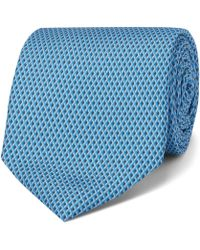 Dunhill - 8cm Printed Mulberry Silk Tie - Lyst