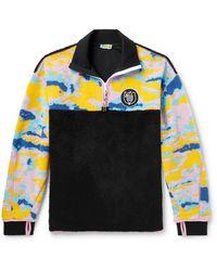 Loewe Eye//nature Colour-block Fleece Half-zip Sweatshirt - Multicolour