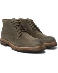 Brunello Cucinelli Suede Desert Boots - Green