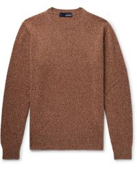 Lardini - Slim-fit Mélange Wool Sweater - Lyst