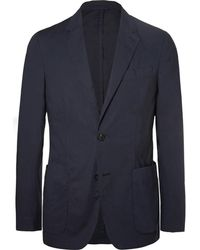Ermenegildo Zegna - Navy Stretch-cotton Poplin Suit Jacket - Lyst