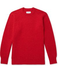 Albam Ribbed Wool Jumper - Red