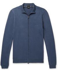 BOSS - Palano-l Cotton Zip-up Cardigan - Lyst