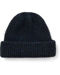A Kind Of Guise Allen Ribbed Virgin Wool And Cashmere-blend Beanie - Blue