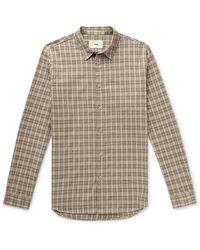 Folk - Checked Cotton Shirt - Lyst
