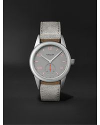Nomos Glashütte Club Campus Hand-wound 36mm Stainless Steel And Leather Watch, Ref. No. 712 - Grey