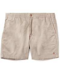 Polo Ralph Lauren Stretch Cotton-twill Shorts - Natural