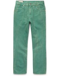 Gucci Slim-fit Washed-denim Jeans - Green