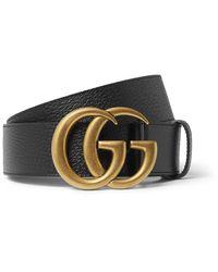 Gucci 4cm Black Full-grain Leather Belt