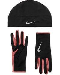 Nike Dri-fit Hat And Gloves Set - Black