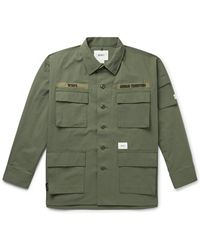 WTAPS Jungle Embroidered Cordura And Cotton-blend Ripstop Overshirt - Green