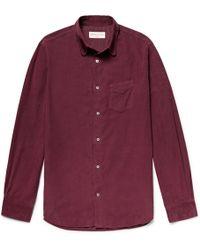 Officine Generale - Benoit Garment-dyed Cotton-corduroy Shirt - Lyst