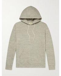 De Bonne Facture Mélange Organic Cotton-jersey Hoodie - Grey