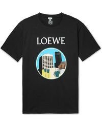 Loewe Ken Price L.a. Series Printed Cotton-jersey T-shirt - Black
