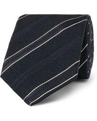 Kingsman - Drake's 8cm Striped Textured-silk Tie - Lyst