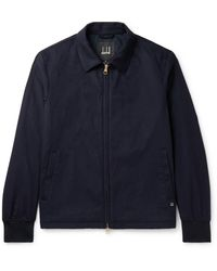 Dunhill Wool And Cashmere-blend Jacket - Blue