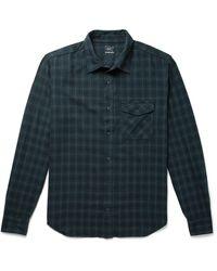 Save Khaki Checked Cotton-flannel Shirt - Green