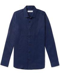 Kingsman Orlebar Brown Giles Slim-fit Linen Shirt - Blue