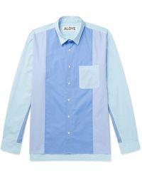 Aloye Paneled Cotton-poplin Shirt - Blue